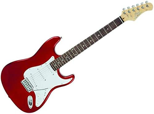guitarra eléctrica EKO S-300 CROME Red expuesta: Amazon.es ...