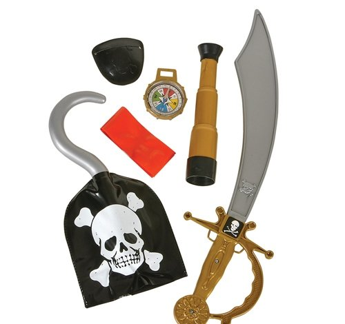 6 PC PIRATE WEAPON SET, Case of 72 by DollarItemDirect