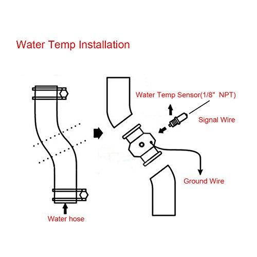 Size : 26MM VGEBY Car Aluminum Water Temp Temperature Joint Pipe Sensor Gauge Radiator Hose Adapter Clamps 26-40MM