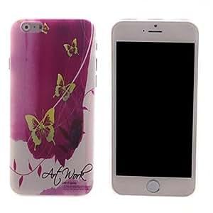 ZMY caso duro mariposa diseño pc amarilla para el iphone 6