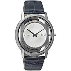 Titan Men's 1577TL01 Edge Black/White Titanium Watch