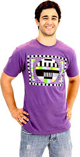 The Big Bang Theory Sheldon Checkered Test Pattern Purple Mens T-shirt (Adult XX-Large)