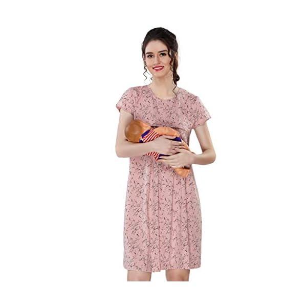 Best Maternity Nursing Printed Nighty With Zip Online India