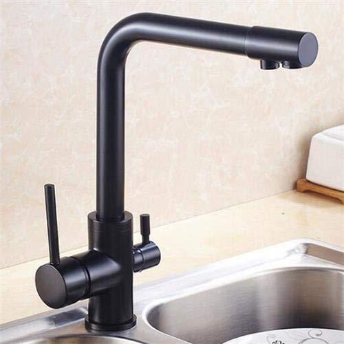 CZOOR Agua potable Grifo de la cocina Oro Latón Fregadero de la ...