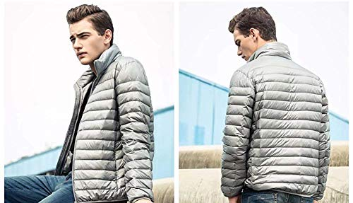 Simple Estilo De Chaqueta Manga De Packable Chaquetas Hombre Down Ligera Grey Acolchada Abrigos Bomber Larga Chaqueta On8q40wt7t