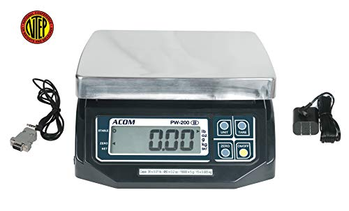 VisionTechShop ACOM PW-200RS POS Interface Portion Control Scale with Most ECR