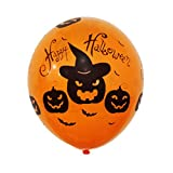 Shuangklei 12-Inch Halloween Balloon Scene Layout, Decoration, Spoof Pumpkin Print Balloon, Supplies Pendant,50Pcs