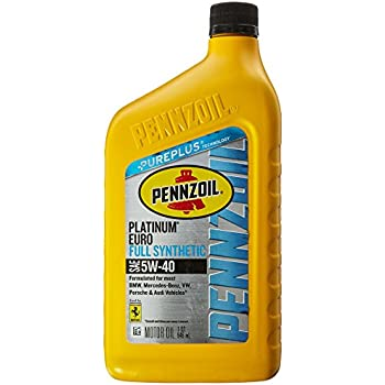 Pennzoil Platinum Euro SAE Full Synthetic Motor Oil 5W-40, 1 Quart - Pack of 1