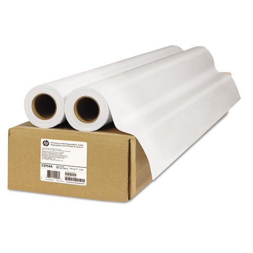 (Premium Matte Polypropylene Paper, 140 g/m2, 42'' x 75 ft, White, 2 Rolls/Pack, Sold as 1 Package)