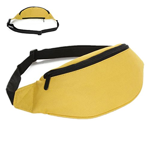 ReachTop Unisex Fanny Pack Adjustable Waistband Pouch Polyester Hidden Wallet for Storing Phone Wallet Keys for Women Men Travelling Hiking Cycling Workout Outdoor Sports by ReachTop