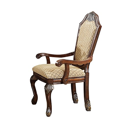 ACME Furniture 64078 Chateau de Ville Espresso Arm Chair (Set of 2)