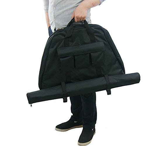Triangle Bogen Tasche Bogenschießen Fall Take Down Bogen Bag Leinwand Rückseite Jagd Target Pfeil Köcher tragbar