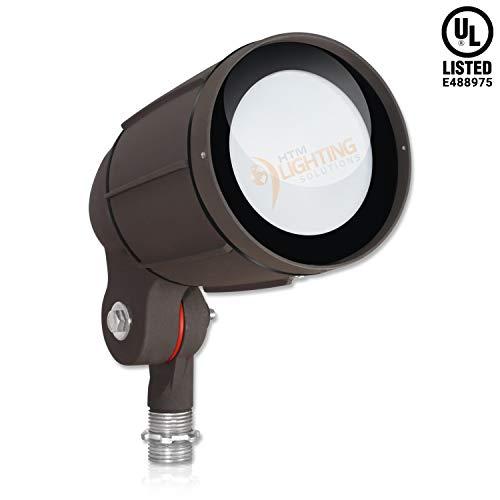 12-Watt LED Bullet Flood Light for 120 Volt Outdoor Landscape Lighting, 1200 lm, Bronze, 50W MH Equal, Flag Pole Light, 25° Spotlight Beam, Cool White (5000K, 1-Pack)