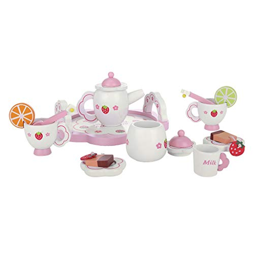 Gbell-Ship from US- Tea Set Pretend Playset for Girls,Children's Play Teapot Kit Simulate Home Afternoon Tea Teapot, Teacups, Plates, Saucers, and Accessories for Kids