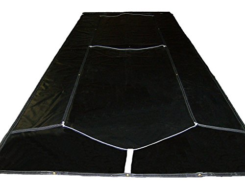 Asphalt Dump Truck Tarp with Side Flaps for a 12' Bed Made in USA Free Economy Shipping (Various sizes available) (Black 18 Oz Vinyl Polyester)