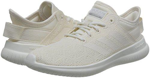 Qt Adidas Cloudfoam Baskets Femme Blanc Flex Silver matte chalk Wht Wht Cass chalk SqCwqUg