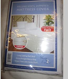 Dura-kleen Deluxe Vinyl Zippered White Full Size Mattress Cover