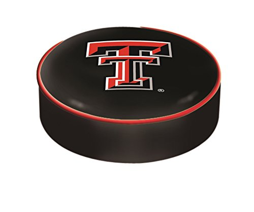 (Texas Tech Red Raiders HBS Black Vinyl Slip Over Bar Stool Seat Cushion Cover)