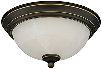 12W 11-inch Dimmable LED Flush Mount Ceiling Light - 50W Equivalent 3000K Warm White LED Ceiling Light Fixtures - 800lm ETL-listed LED Surface Mount Lighting Fixtures
