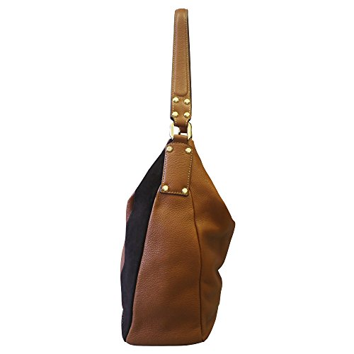 Arcadia Lagosta épaule en cuir souple Sac à main - Tan brun