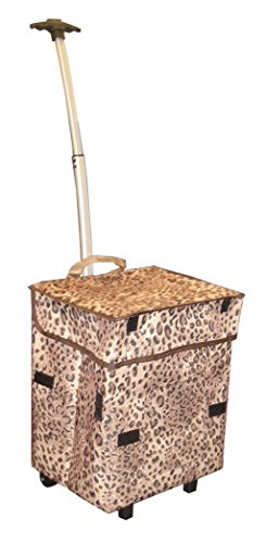 Smart Office Organizing (Smart Cart , Cheetah Rolling Multipurpose Collapsible Basket Cart Scrapbooking)
