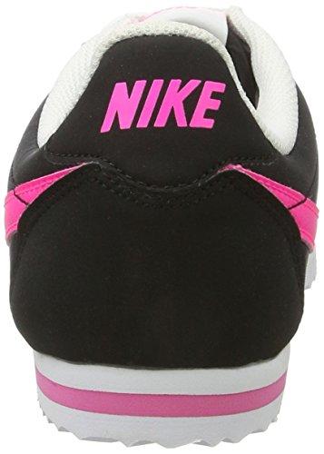 online store 467d1 ced71 Nike Cortez Nylon Gs, Zapatillas de Running para Mujer Negro Black  Pink  BlastWhite