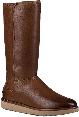 UGG Womens Abree II Leather Rain Boot Bruno Size 9