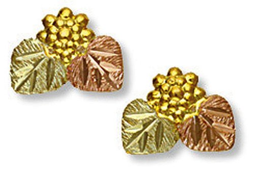 Landstroms 10k Black Hills Gold Earrings with Leaves for Pierced Ears - B1219P by Landstroms Black Hills Gold