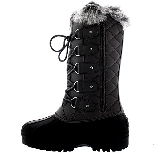 Gray Snow Boots Knee Mountain Tactical Womens Walking Waterproof x0vxqH