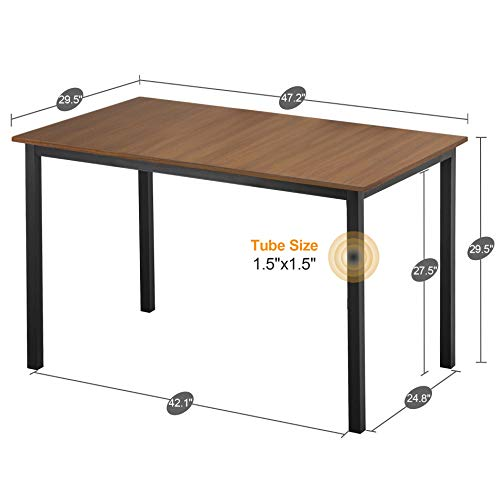 Dining Table Rectangular Kitchen Table Modern Table Desk Computer Desk Office Conference Desk Table,Brown Table Only