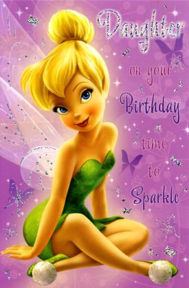 Image Unavailable Not Available For Colour Tinkerbell Daughter Birthday Card
