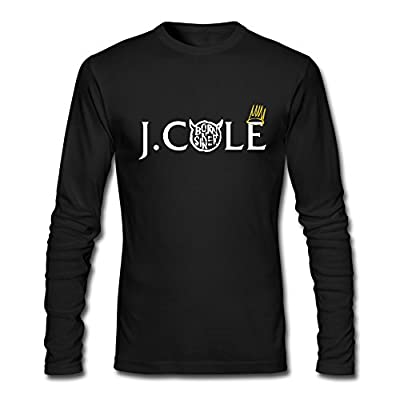 Men's J.Cole Born Sinner Crown Only Long Sleeve T Shirt-Black