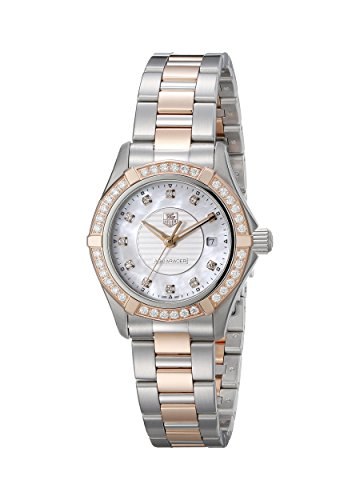 (TAG Heuer Women's WAP1452.BD0837 Aquaracer Analog Display Swiss Quartz Rose Gold)
