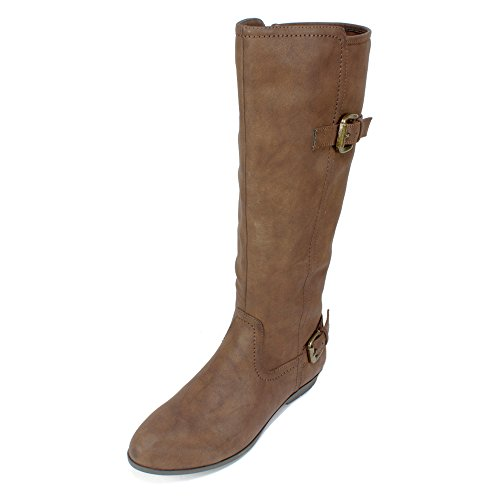 Cliffs by White Mountain Women's Finalist Riding Boot,Chestnut Smooth Synthetic, (Chestnut Smooth Footwear)