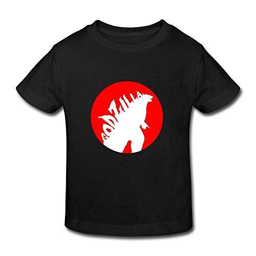 AOPO Godzilla Tees For Toddlers Unisex (2-6 Years) 5-6 Toddler Black (Baby Godzilla Costume)