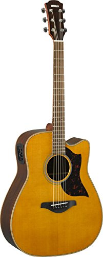 Yamaha A-Series A1R Acoustic-Electric Guitar, Vintage Natural