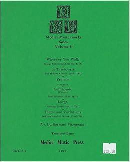 Amazon com: Medici Masterworks Solos Volume 2 II Trumpet / Piano
