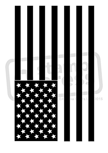 A7 'American Flag' Unmounted Rubber Stamp (SP00005947)