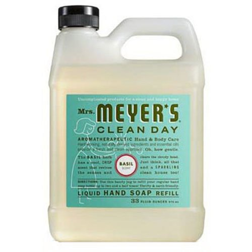 Mrs. Meyer's - Liquid Hand Soap Refill, Basil - 33 Ounce Body Soap Refill
