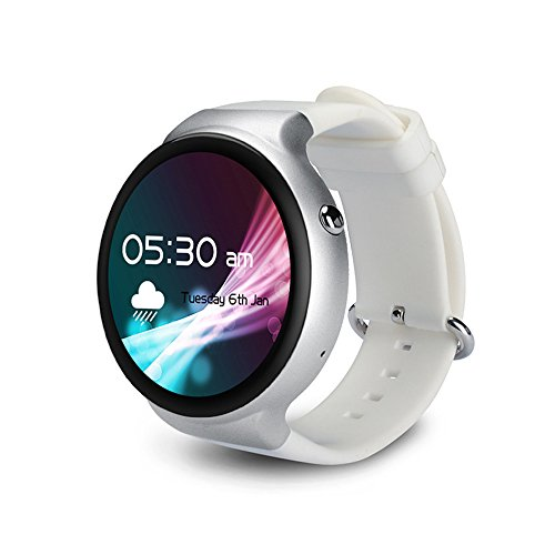HAIT Smart Watch 1G+16G Thin And Light Round Screen 3G Pluggable SIM Card Sleep/Heart Rate Monitoring Wifi GPS Positioning Payment,Whiteandsilver