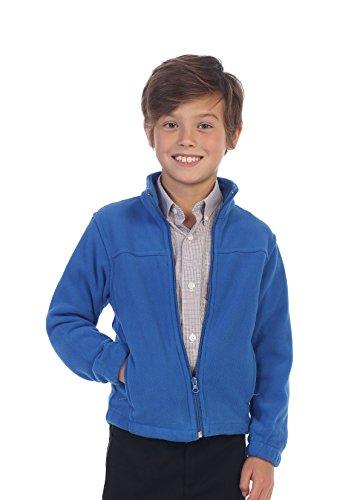 Gioberti Boys Full Zip Polar Fleece Jacket, Royal Blue, 16