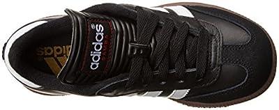 adidas Samba Classic Leather Soccer Shoe (Toddler/Little Kid/Big Kid),Black/White,1 M US Little Kid