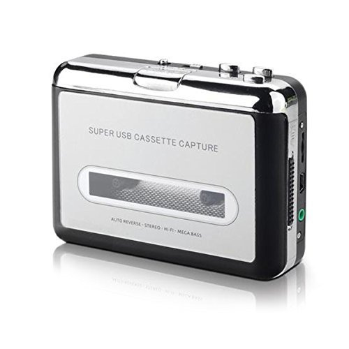 EAS Audio USB Portable Cassette tape to MP3 Converter Tape-to-MP3 Player with Software Cd And Auto Reverse - FOR PC KDJ02 (Portable Vhs Player compare prices)