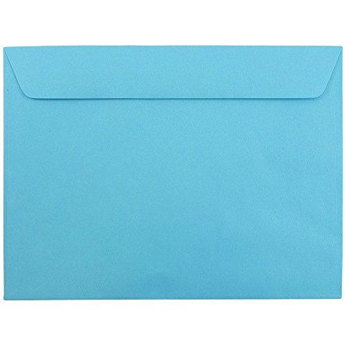 JAM Paper 9'' x 12'' Booklet Envelopes - Brite Hue Blue Recycled - 250/pack by JAM Paper