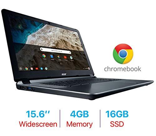 2019 Acer Premium 15.6'' Chromebook ComfyView Display Laptop PC, Intel Dual-Core Celeron 1.6GHz, 4GB RAM, 16GB Flash Drive, Bluetooth 4.2, Webcam, HDMI, Cloud Support, USB 3.0, Google Chrome ()
