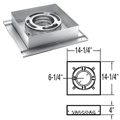 """Simpson Duravent 9047N 6"""" Triple Wall Flat Ceiling Support Box"""