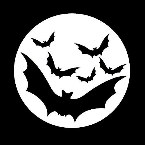 (Bats Flying In Moon Spooky Halloween 6