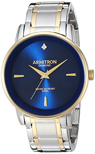 Armitron Men's 20/5263NVTT Diamond-Accented Two-Tone Bracelet Watch