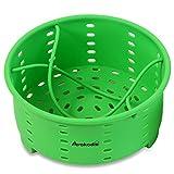 Avokado's Silicone Steamer Basket for Pressure Cooking or Stove Top - Perfect Instant Pot Sling Alternative & Great Egg/Broccoli Veggie Steamer/Strainer - BPA-Free, FDA Food Grade - 7.75in wide