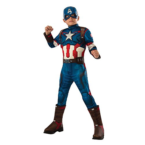 [Rubie's Costume Avengers 2 Age of Ultron Child's Deluxe Captain America Costume, Small] (Kids Captain America Costumes)